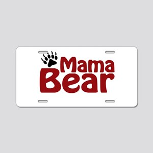 Mama Bear Claw Aluminum License Plate