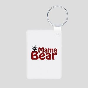 Mama Bear Claw Aluminum Photo Keychain