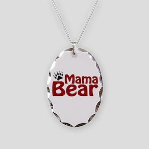 Mama Bear Claw Necklace Oval Charm