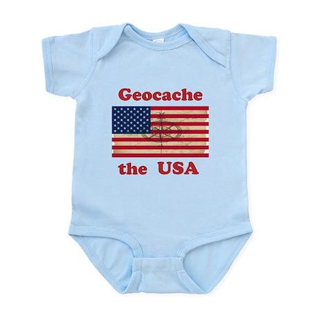 Geocache the USA Infant Bodysuit
