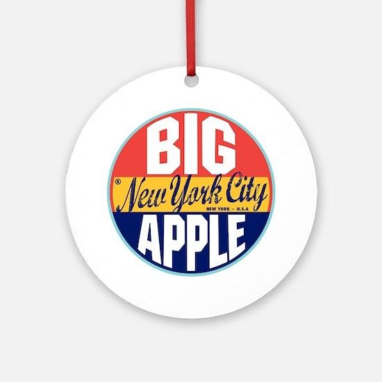 New York Vintage Label Ornament (Round)