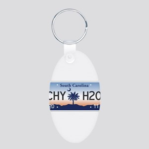 Chilly Water Aluminum Oval Keychain