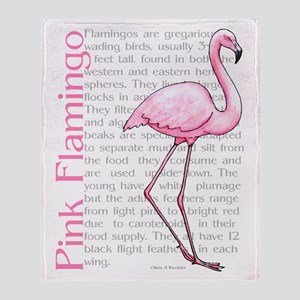 Pink Flamingo Throw Blanket