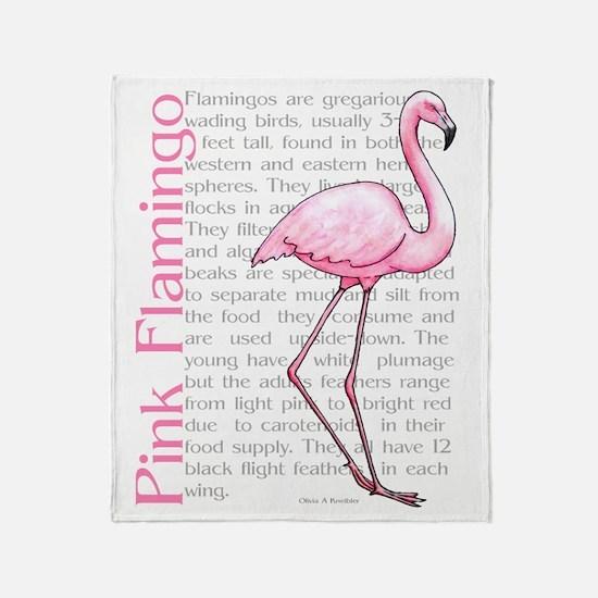 Pink Flamingo Throw Blanket