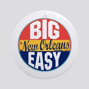 New Orleans Vintage Label Ornament (Round)
