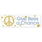 Give Bees a Chance Sticker (Bumper 10 pk)