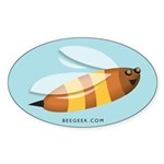 Friendly Honeybee Sticker (Oval 10 pk)