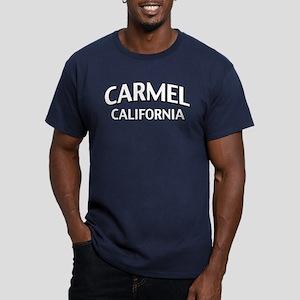 Carmel California Men's Fitted T-Shirt (dark)