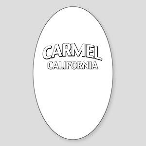 Carmel California Sticker (Oval)
