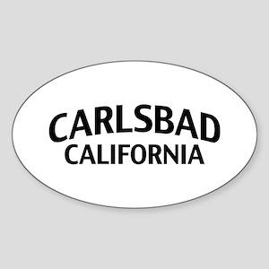 Carlsbad California Sticker (Oval)