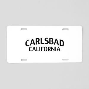 Carlsbad California Aluminum License Plate