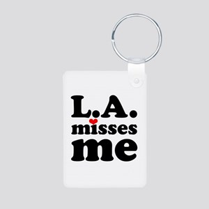 LA Misses Me Aluminum Photo Keychain