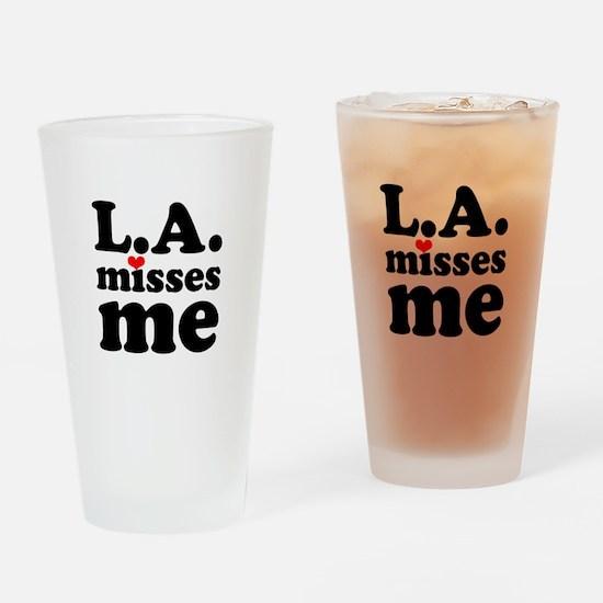 LA Misses Me Drinking Glass