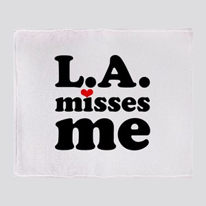 LA Misses Me Throw Blanket