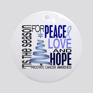 Christmas 1 Prostate Cancer Ornament (Round)