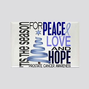 Christmas 1 Prostate Cancer Rectangle Magnet