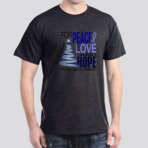 Christmas 1 Prostate Cancer Dark T-Shirt