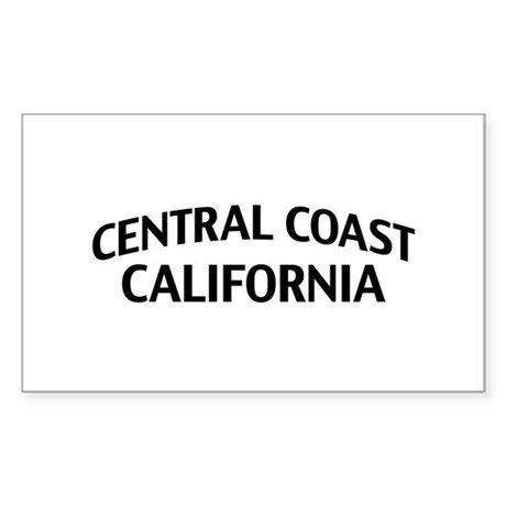 Central Coast California Sticker (Rectangle)