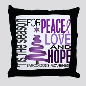 Christmas 1 Sarcoidosis Throw Pillow