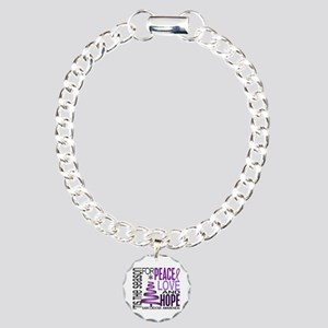 Christmas 1 Sarcoidosis Charm Bracelet, One Charm
