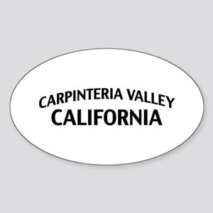 Carpinteria Valley California Sticker (Oval)
