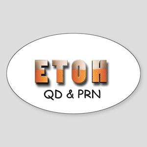 ETOH Sticker (Oval)