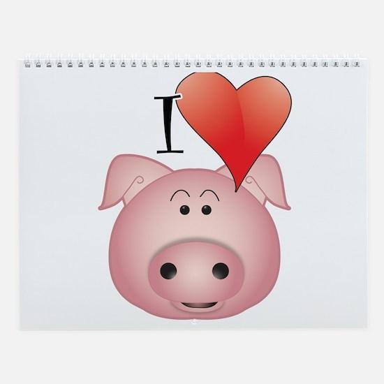 Funny Pigs Wall Calendar