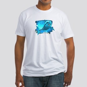 great white shark Fitted T-Shirt