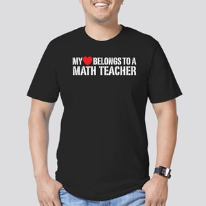 My Heart Math Teacher Men's Fitted T-Shirt (dark)