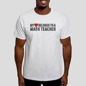 My Heart Math Teacher Light T-Shirt