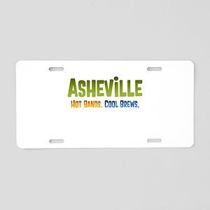 Asheville. Hot bands. Aluminum License Plate