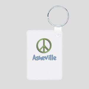 Peace Asheville Aluminum Photo Keychain