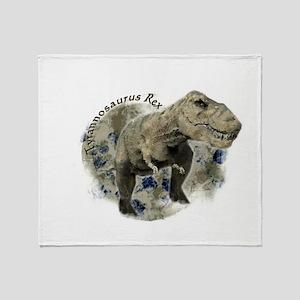 trex dinosaur Throw Blanket