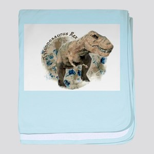 trex dinosaur baby blanket