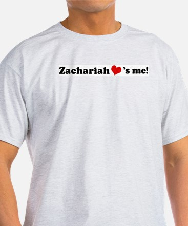 Zachariah loves me Ash Grey T-Shirt