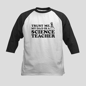 My Dad Science Teacher Kids Baseball Jersey