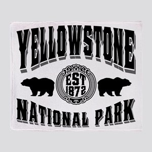 Yellowstone Established 1872 Throw Blanket