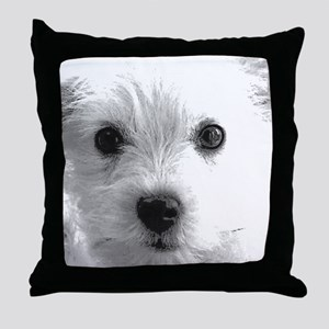 Cute Dog Gifts by Vampire Dog Throw Pillow