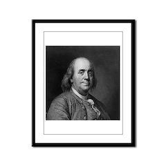 Ben Franklin: Portrait Framed Panel Print