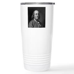 Ben Franklin: Portrait Stainless Steel Travel Mug