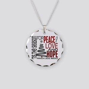 Christmas 1 Parkinson's Disease Necklace Circle Ch