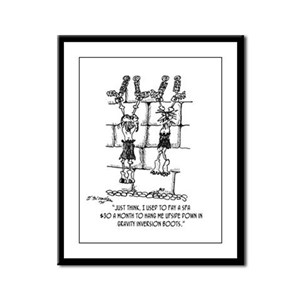 Who Needs Gravity Inversion Boots Framed Panel Pri