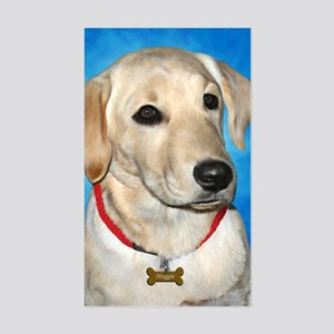 Maggie the Lab Sticker (Rectangle)