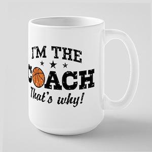 Basketball Coach Large Mug