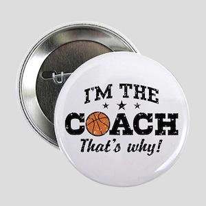 """Basketball Coach 2.25"""" Button"""