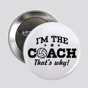 "Volleyball Coach 2.25"" Button"