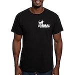 AW Men's Fitted Dark T-Shirt (Pocket Logo)