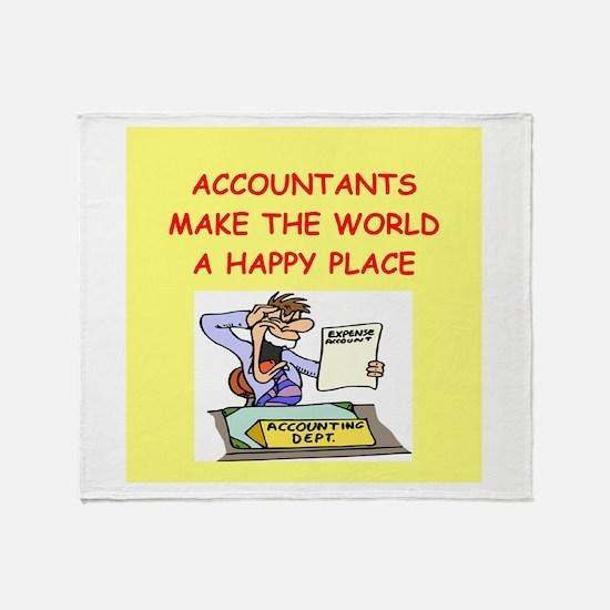 accountants Throw Blanket