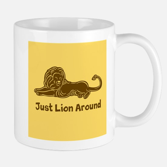 Lion Around (brown) Mug