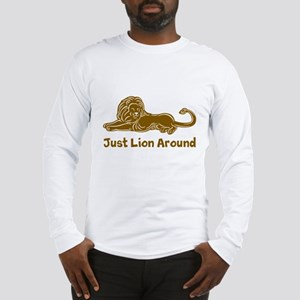Lion Around (brown) Long Sleeve T-Shirt